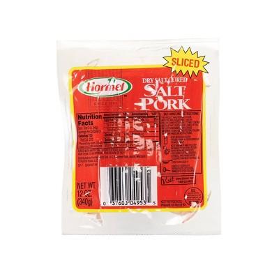 Hormel Sliced Cured Salt Pork - 12oz