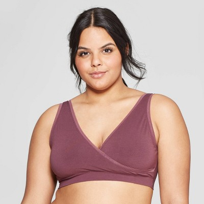 Women's Nursing V-Neck Bralette with Mesh Trim - Auden™