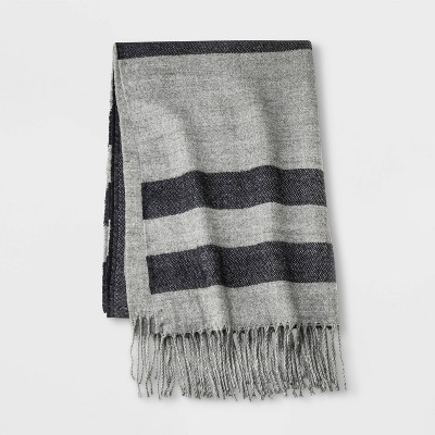 Men's Striped Holiday Oblong Scarf - Goodfellow & Co™ One Size