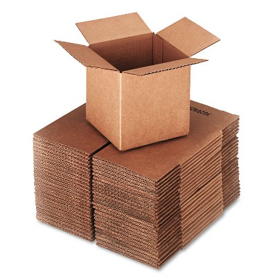 General Supply Brown Corrugated - Cubed Fixed-Depth Shipping Boxes 6l x 6w x 6h 25/Bundle 666