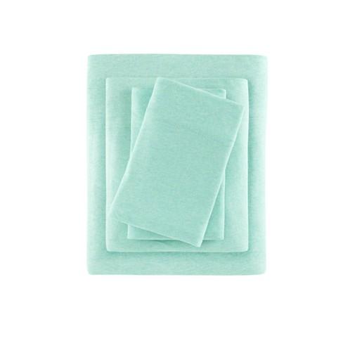 Heathered Cotton Jersey Knit Sheet Set® - image 1 of 5