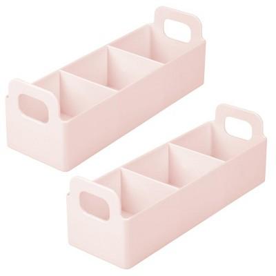 mDesign Plastic Kitchen Tea Bag Organizer Storage Caddy Holder - 2 Pack