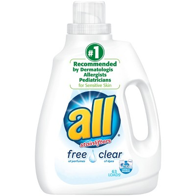 All® Ultra Free Clear HE Liquid Laundry Detergent 94.5oz- 63 loads
