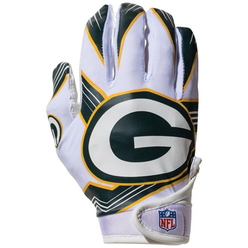 709a011a Green Bay Packers Kids' Receiver Gloves - M