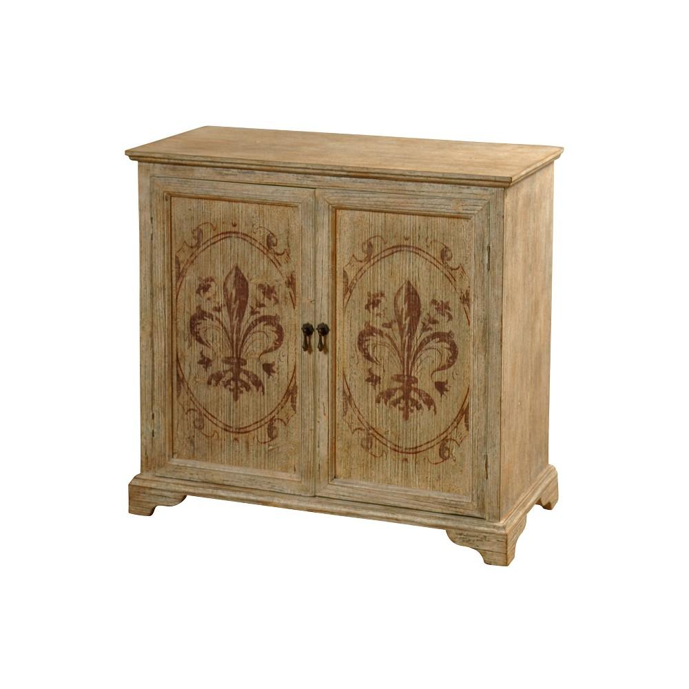 Image of 2 Door Cabinet D with Hand Painted Motifs Beige - Stylecraft