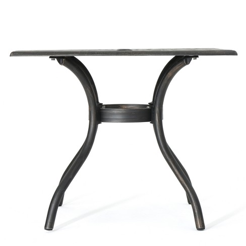 Austin Square Cast Aluminum Dining Table - Shiny Copper - Christopher Knight Home - image 1 of 4