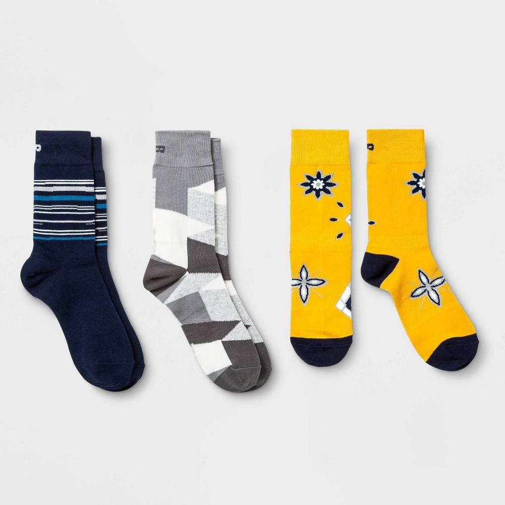 Pair Of Thieves Men 39 S Crew Socks 3pk Yellow Blue Gray 8 12