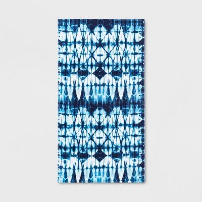 Shibori Beach Towel Blue - Sun Squad™
