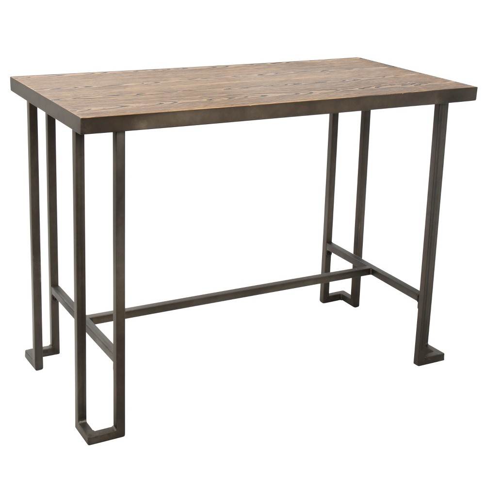 Roman Industrial Counter Height Dining Table Antique/Brown - LumiSource