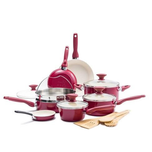 GreenPan Rio 16pc Non Stick Cookware Set Red - image 1 of 4