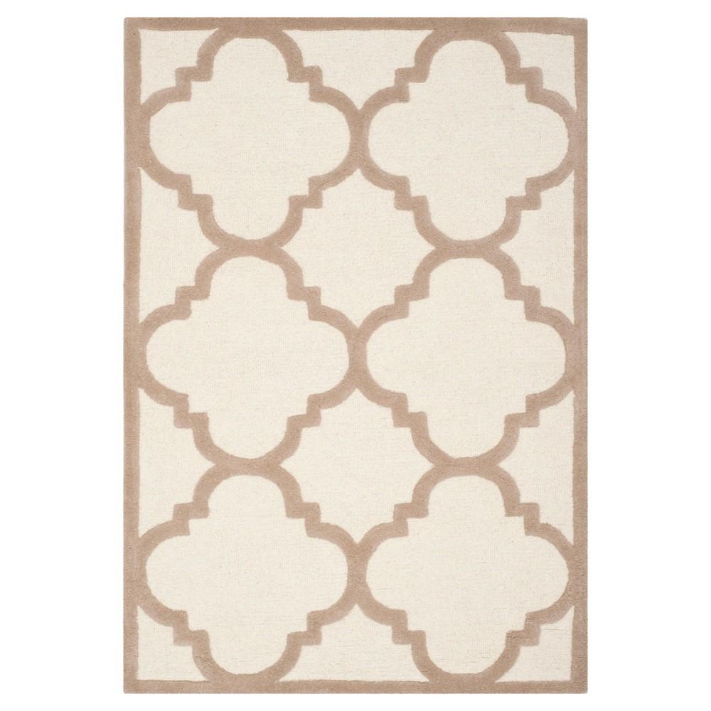 Landon Texture Wool Rug - Ivory / Beige (4' X 6') - Safavieh, Ivory/Beige