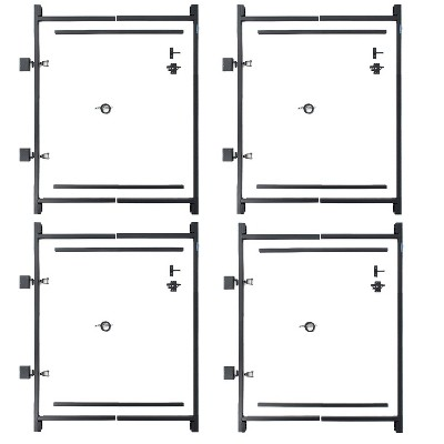 """Adjust-A-Gate Steel Frame Gate Kit, 36""""-60"""" Wide Opening Up To 5' High (4 Pack)"""