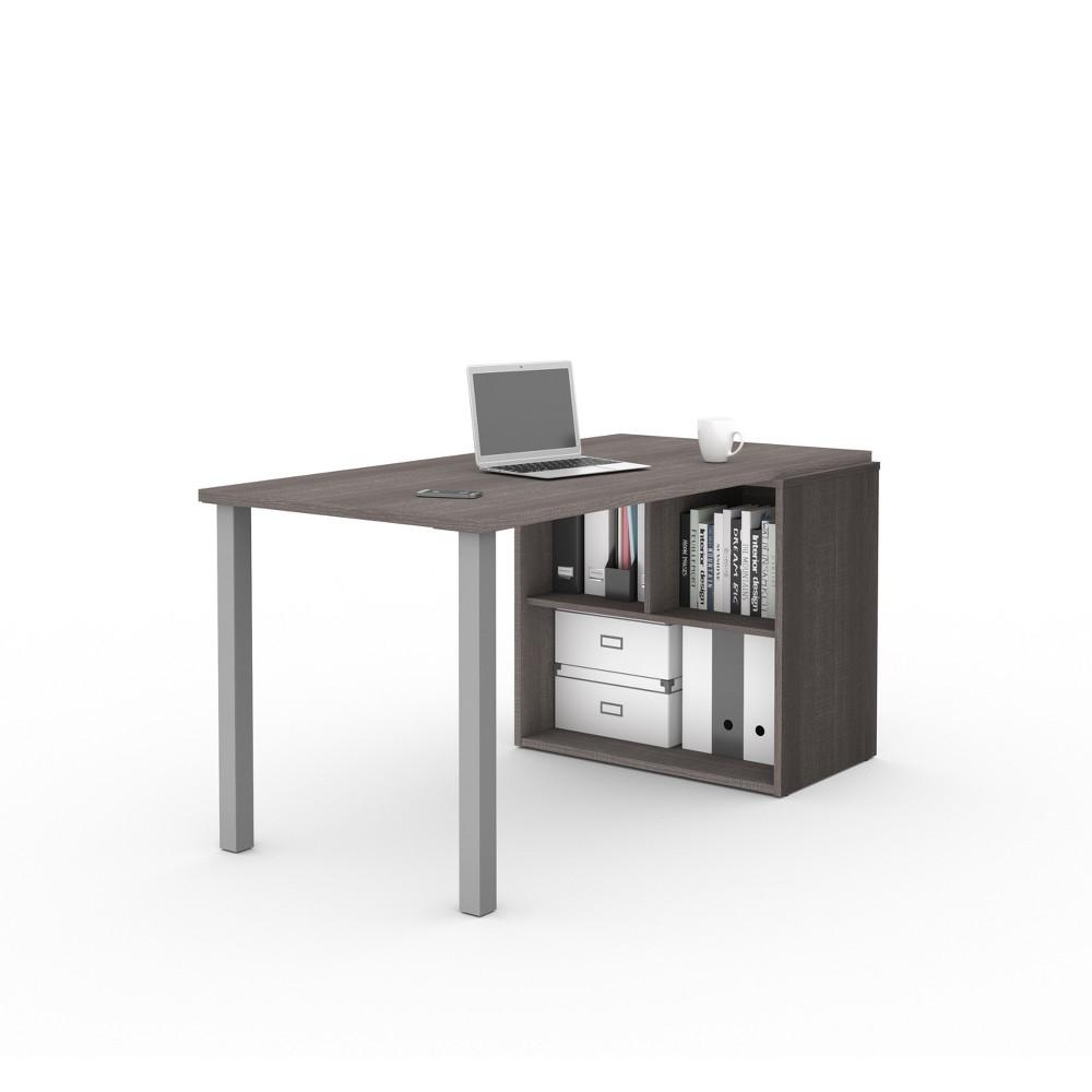I3 Plus Workstation Bark Gray - Bestar