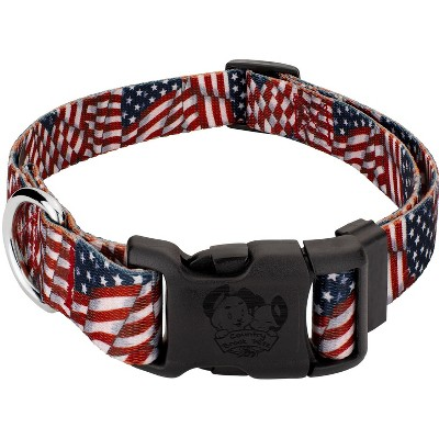 Country Brook Design Patriotic Tribute Deluxe Dog Collar - Made In The U.S.A.