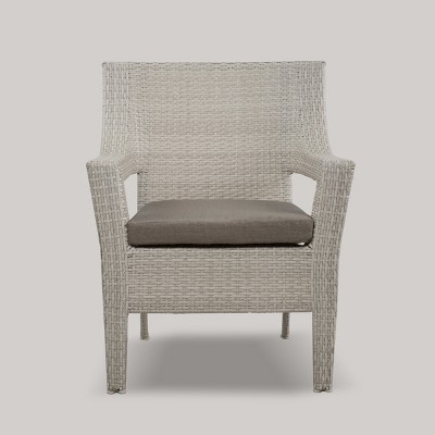 Southcrest Wicker Stacking Patio Club Chair Gray - Threshold™