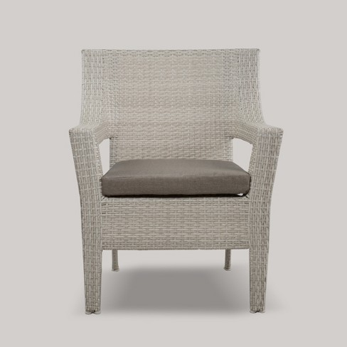 Southcrest Wicker Stacking Patio Club Chair Gray - Threshold™ - image 1 of 4