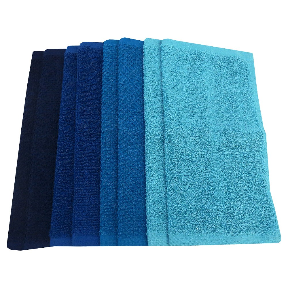 Washcloth Set Cool Blue Pillowfort 8482