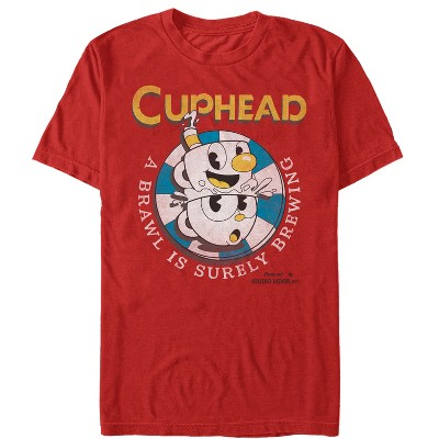 Men's Cuphead Brawl is Brewing T-Shirt