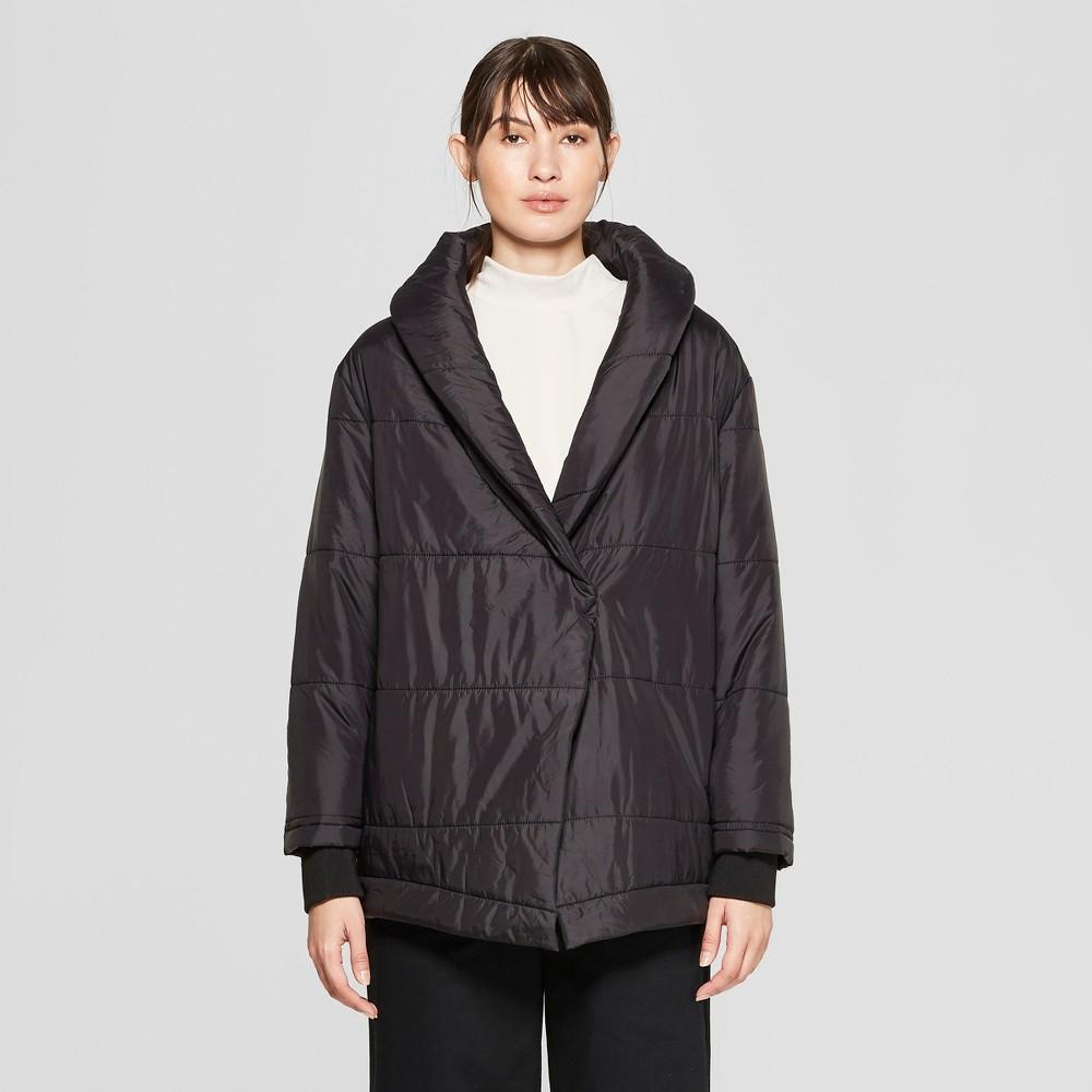 Women's Long Sleeve Puffer Jacket - Prologue Black L