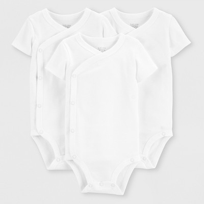 Baby 3pk Bodysuits - Just One You® made by carter's White Newborn