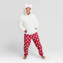 Men's Holiday Llama Pajama Set - Wondershop™ White