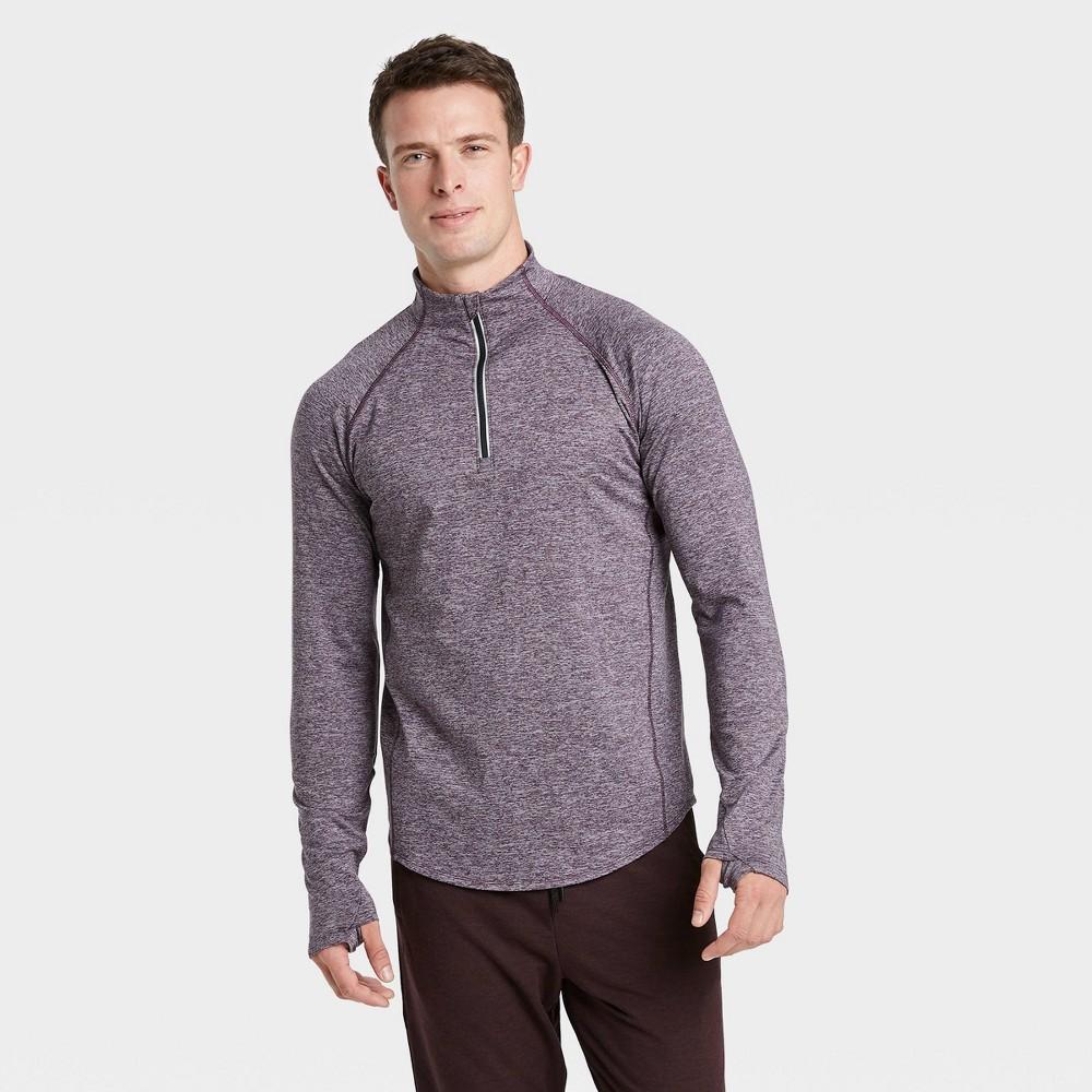 Men's Premium Layering Quarter Zip Pullover - All in Motion Purple XXL, Men's was $30.0 now $19.5 (35.0% off)