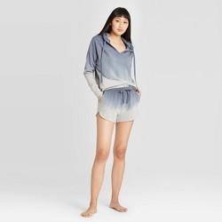 Women's Dip Dye Hooded Lounge Sweatshirt  - Colsie™ Blue