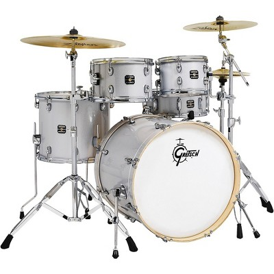 Gretsch Drums Energy 5-Piece Drum Set With Hardware and Zildjian Cymbals Light Silver Sparkle