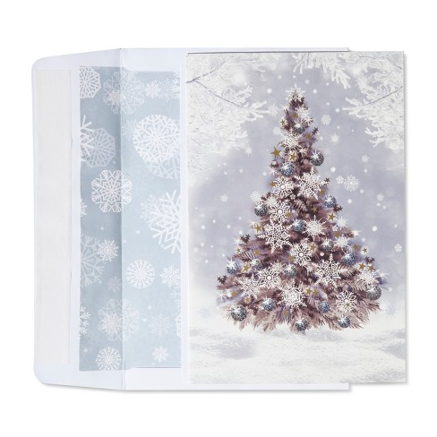 American greetings 40ct snowy christmas tree holiday boxed cards about this item m4hsunfo