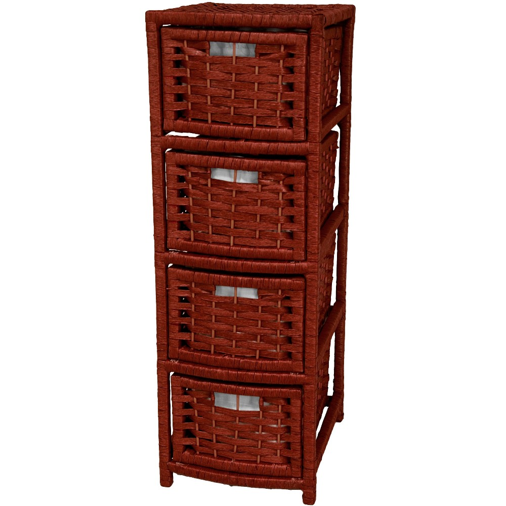 Oriental Furniture 32 Fiber Occasional Chest of Drawers Mahogany (Brown)