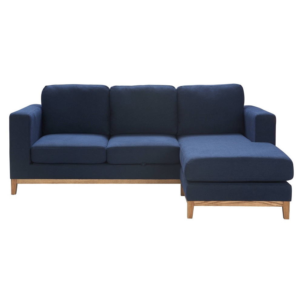 "Image of ""Amelie 61"""" Mid-Century Modern Loveseat - Adore Décor, Blue"""
