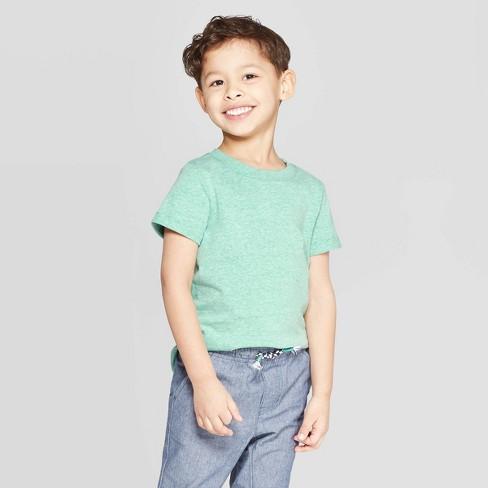 ed04260b8 Toddler Boys' Snow Jersey Roll Cuff T-Shirt - Cat & Jack™ Green : Target