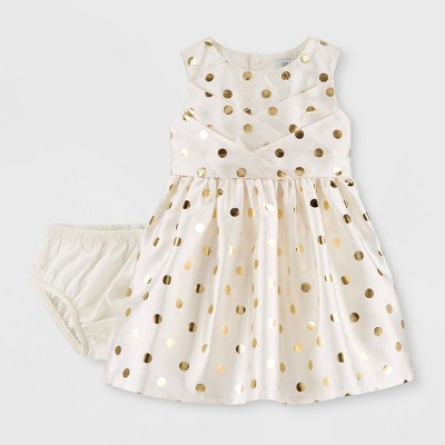 Baby Girls' Holiday Dot Dress - Just One You® made by carter's Cream 3M