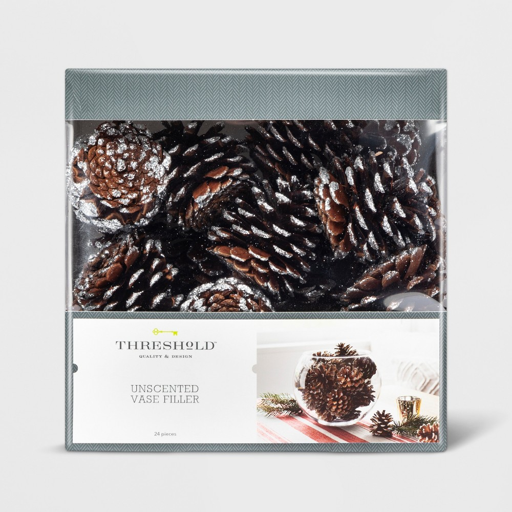 Vase Filler Frosted Pine Cones - Threshold, Brown