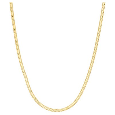 Tiara Sterling Silver Round Snake Chain Necklace
