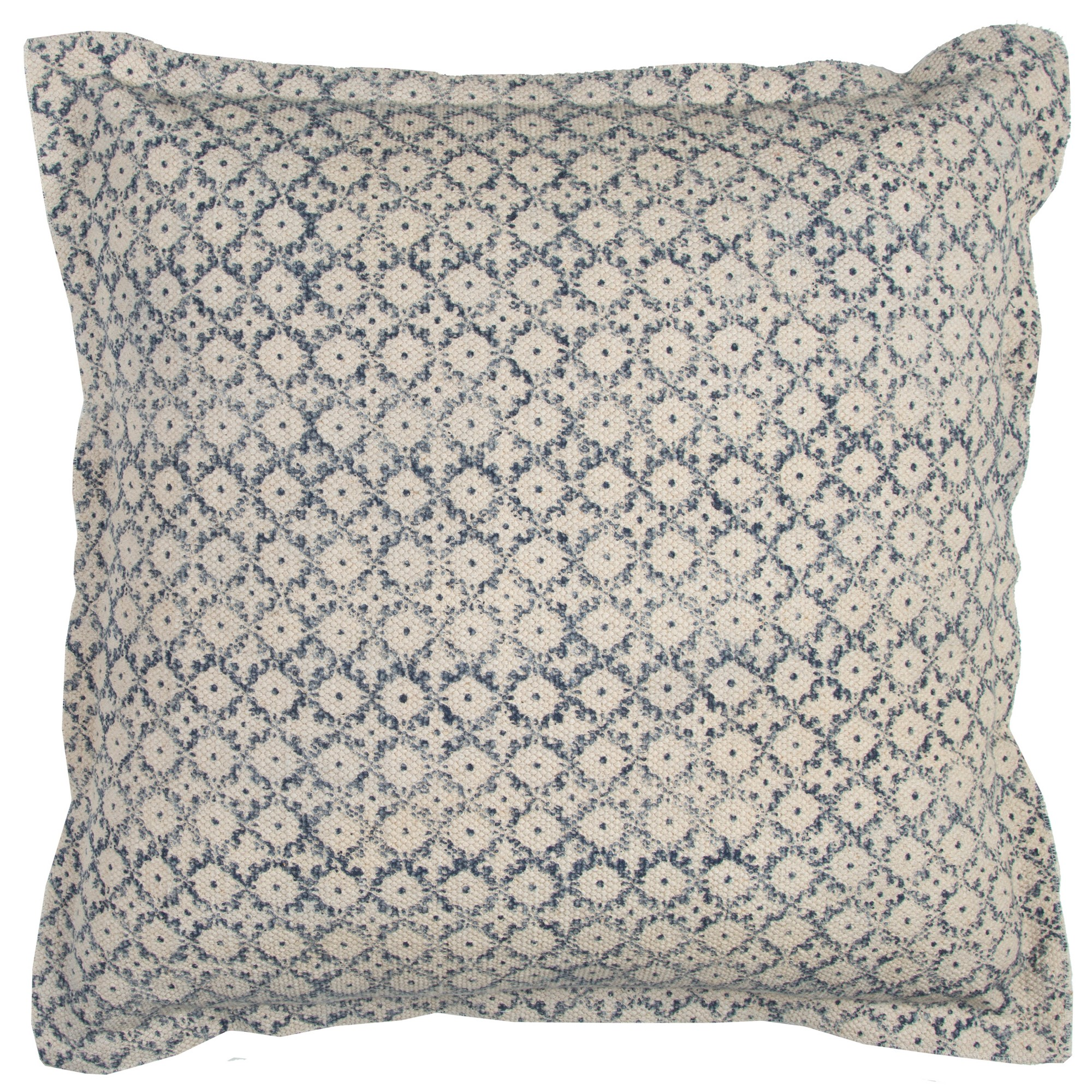Natural And Navy Geometric Solid Throw Pillow - Rizzy Home