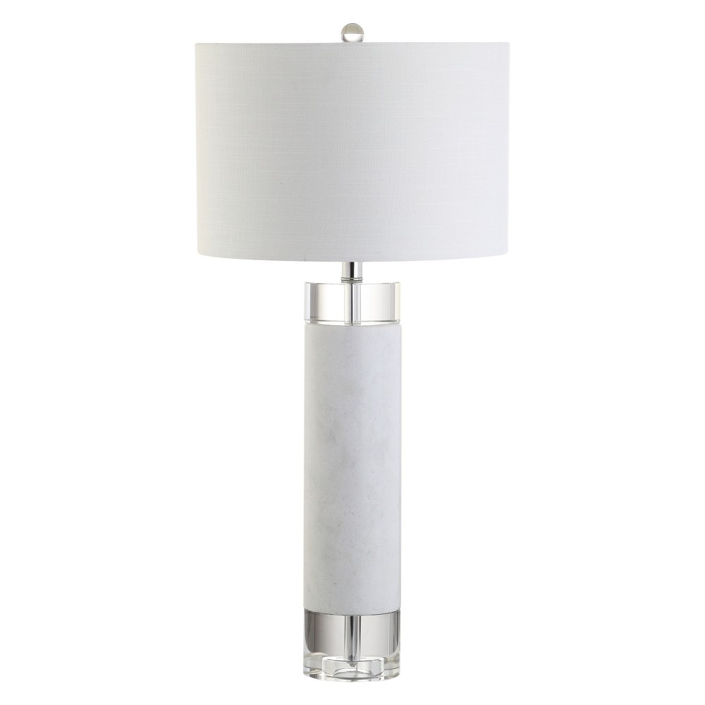 """Image of """"32"""""""" Hunter Marble/Crystal LED Table Lamp White (Includes Energy Efficient Light Bulb) - JONATHAN Y"""""""