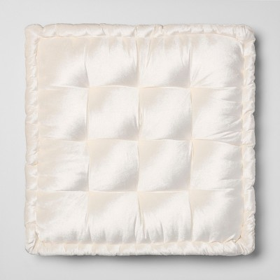 Velvet Floor Cushion Oversize Square Cream - Opalhouse™