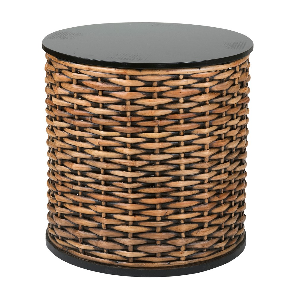 Concord Rattan Accent Table Brown - East At Main