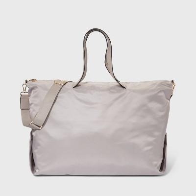 NEW Stripe Shoulder Bag Tote Duffel Gym Bag travel Boston CrossBody Handbag