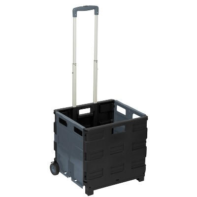 Honey-Can-Do Neutral Rolling Crate Cart Gray