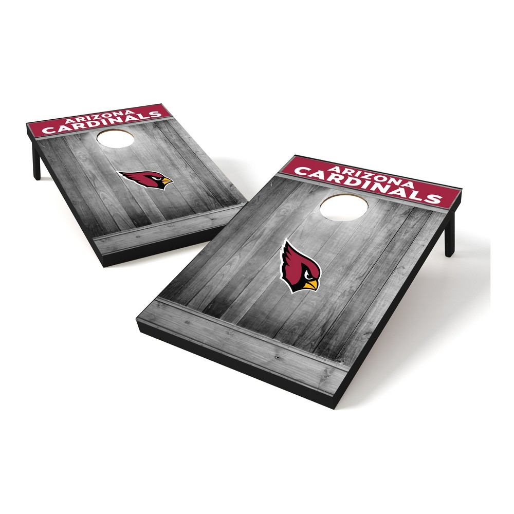 Arizona Cardinals Wild Sports 2x3 Rustic Wooden Plaque Gray Wash Tailgate Toss