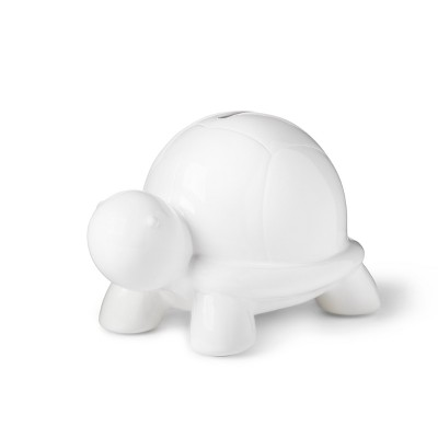 Turtle Decorative Coin Bank - Cloud Island™ White