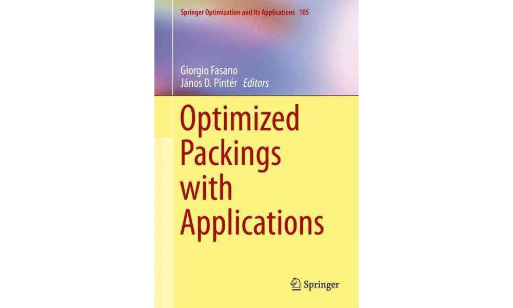 Optimized Packings With Applications (Hardcover)