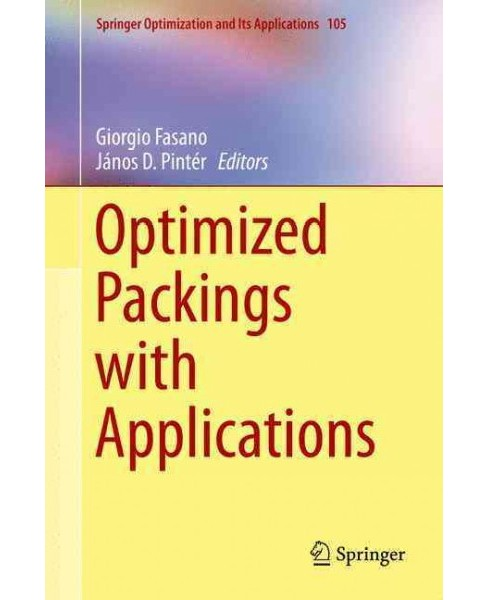 Optimized Packings With Applications (Hardcover) - image 1 of 1