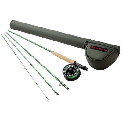 Redington 690-4 VICE 6 Line Weight 9 Foot 4 Piece Lightweight Fly Fishing Carbon Fiber Rod and Aluminum Reel Combo with Line and Case, Green