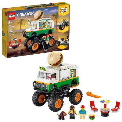 LEGO Creator 3-in-1 Monster Burger Truck Building Kit 31104