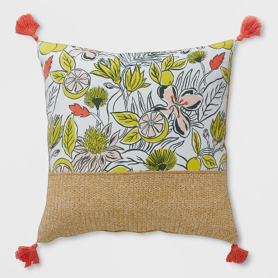 Oversize Square Party Floral Outdoor Pillow - Opalhouse™