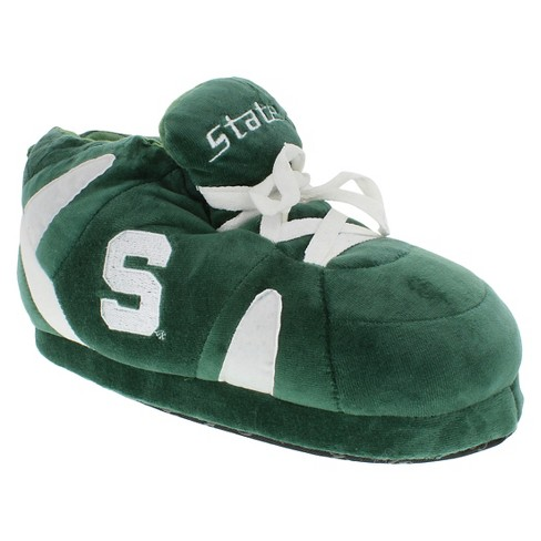 96efd7d9055b5 NCAA Michigan State Spartans Adult Comfy Feet Sneaker Slippers - Green White