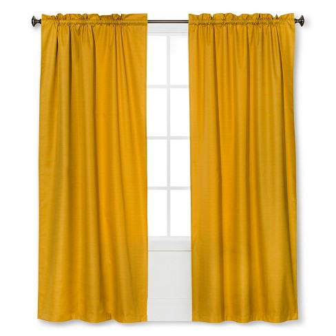 "Braxton Thermaback Light Blocking Curtain Panel Yellow (42""x84"") - Eclipse™ - image 1 of 1"